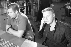 Mina ja video produtseerija intervjuud andmas ETV-le.
